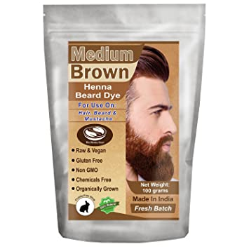 Amazon Com 1 Pack Of Medium Brown Henna Beard Dye For Men 100