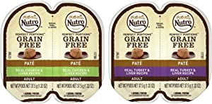 Nutro Perfect Portions Grain Free Soft Loaf Cat Food 2 Flavor 8 Can Variety Bundle, (4) each: Turkey & Liver, and Chicken & Liver - 2.6 Ounces (8 Cans Total)