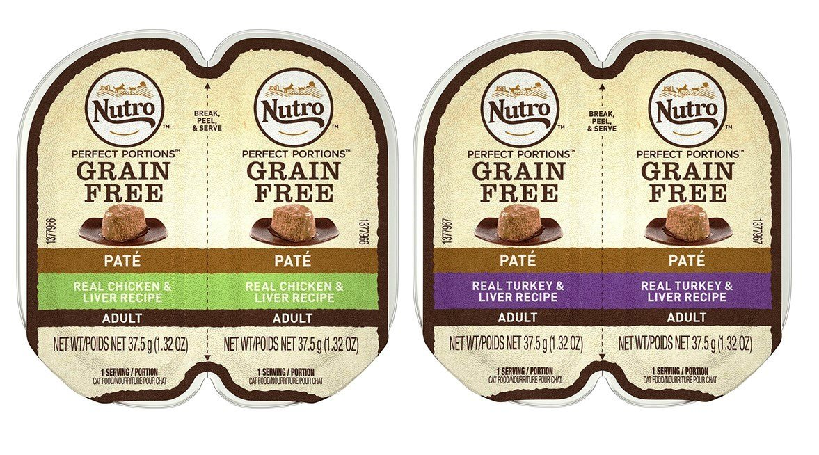 well-wreapped Nutro Perfect Portions Grain Free Soft Loaf Cat Food 2 Flavor 8 Can Variety Bundle, (4) each: Turkey & Liver, and Chicken & Liver - 2.6 Ounces (8 Cans Total)