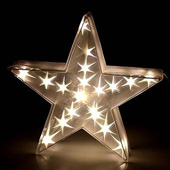 3d Weihnachtsbeleuchtung.Led Hologramm Stern Mit 20 Leds 45x45cm Warmweiß Weihnachtsdekoration 3d Stern Weihnachtsbeleuchtung