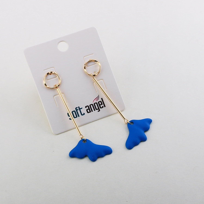 Bishilin Earrings for Women Gold Plated Cloud Wedding Party Earrings Blue