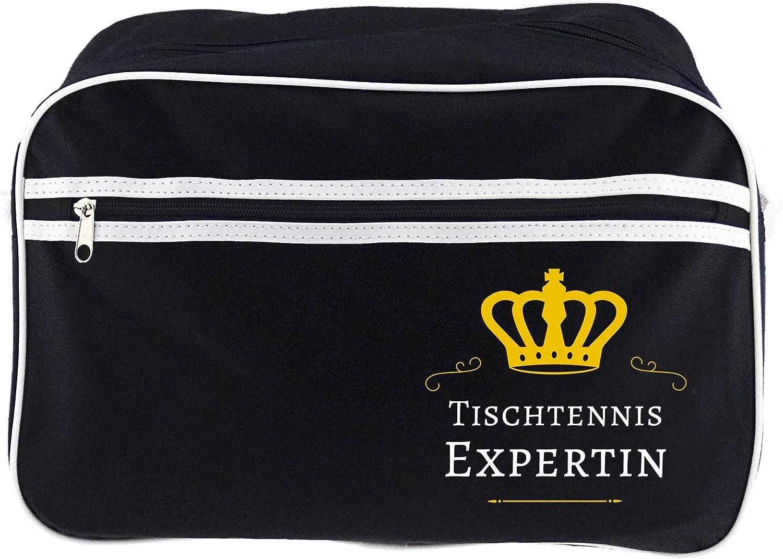 Bolso de tenis de mesa unaexperta negro retro