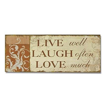Amazoncom Deco De Ville Live Laugh Love Theme Vintage Wall Art