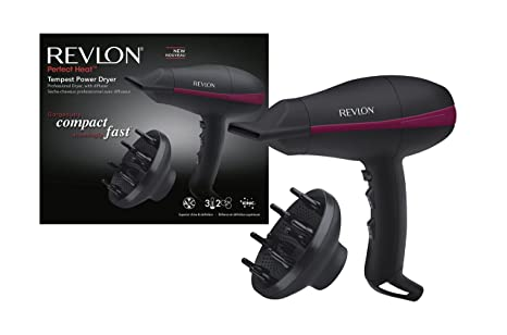 Revlon RVDR5821DE secador Black 2000 W - Secador de pelo (Black, Hanging loop,