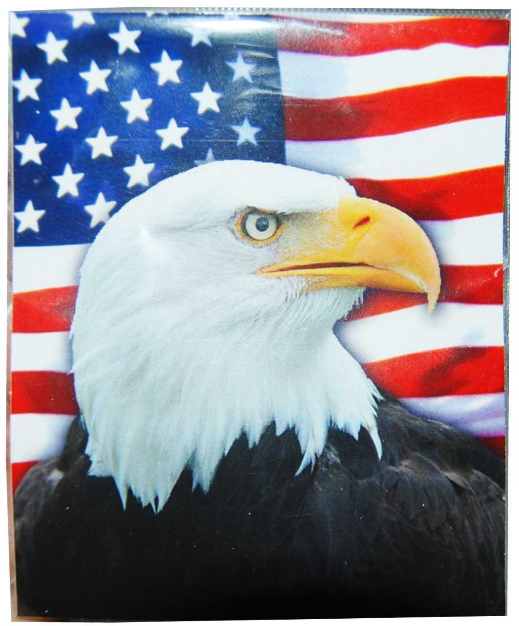 All American USA Fun Kids Sticker Featuring a Fierce Patriotic Bald Eagle Photo Design CityDreamShop