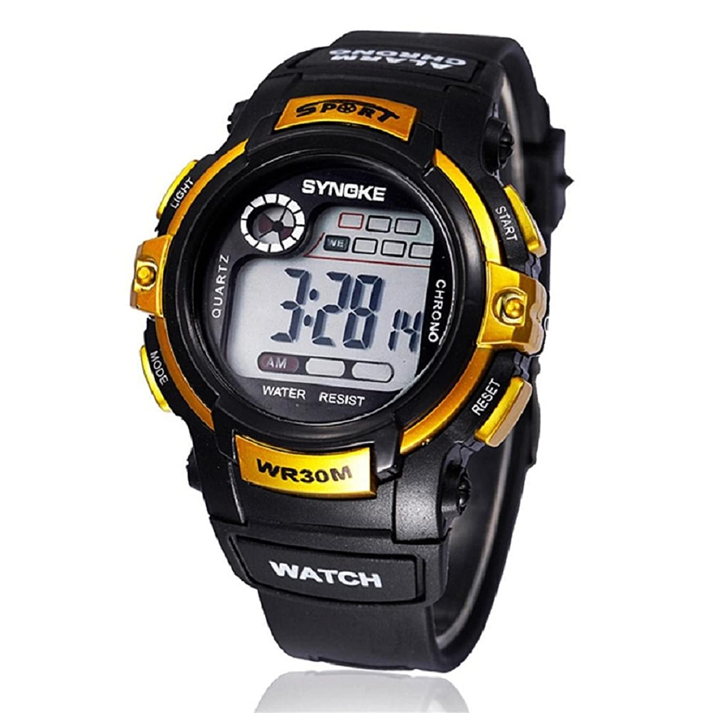 Malloom Boy Sports Waterproof Digital LED Quartz Alarm Date Brand Wrist Watch...