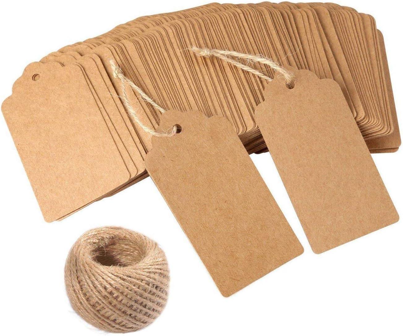 YNuth 100pz Kraft Carta Tags Etichetta Appendere Gioielli Tag Cartellini Etichette Filo Gioielli Etichette Vintage Segnalibri Handmade