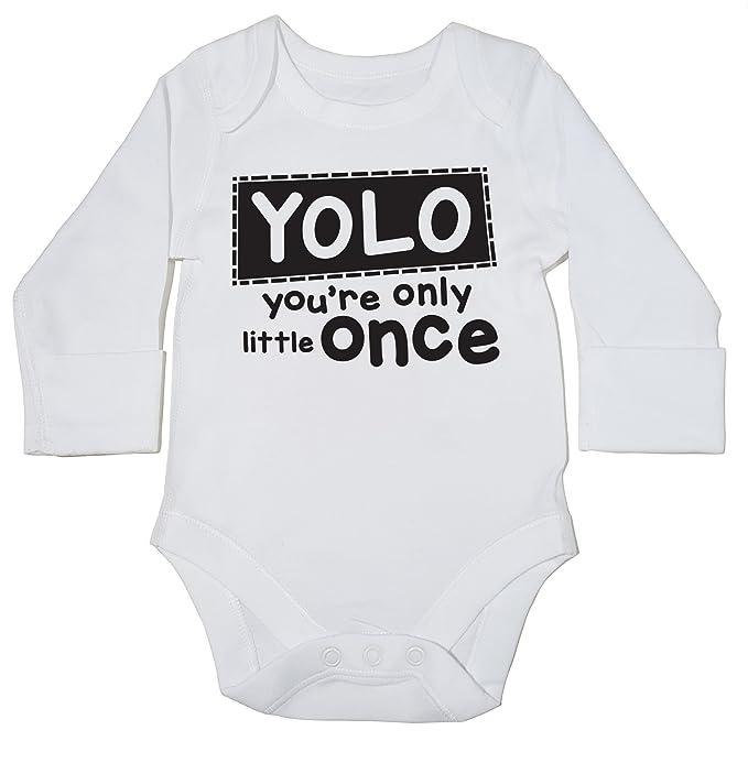 HippoWarehouse YOLO Youre Only Little Once body manga larga bodys pijama niños niñas unisex: Amazon.es: Ropa y accesorios