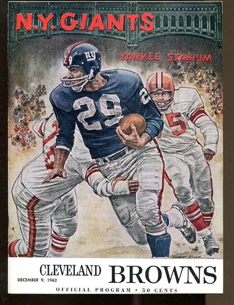 1962 New York Giants v Cleveland Browns Program 129 Yankee Stadium