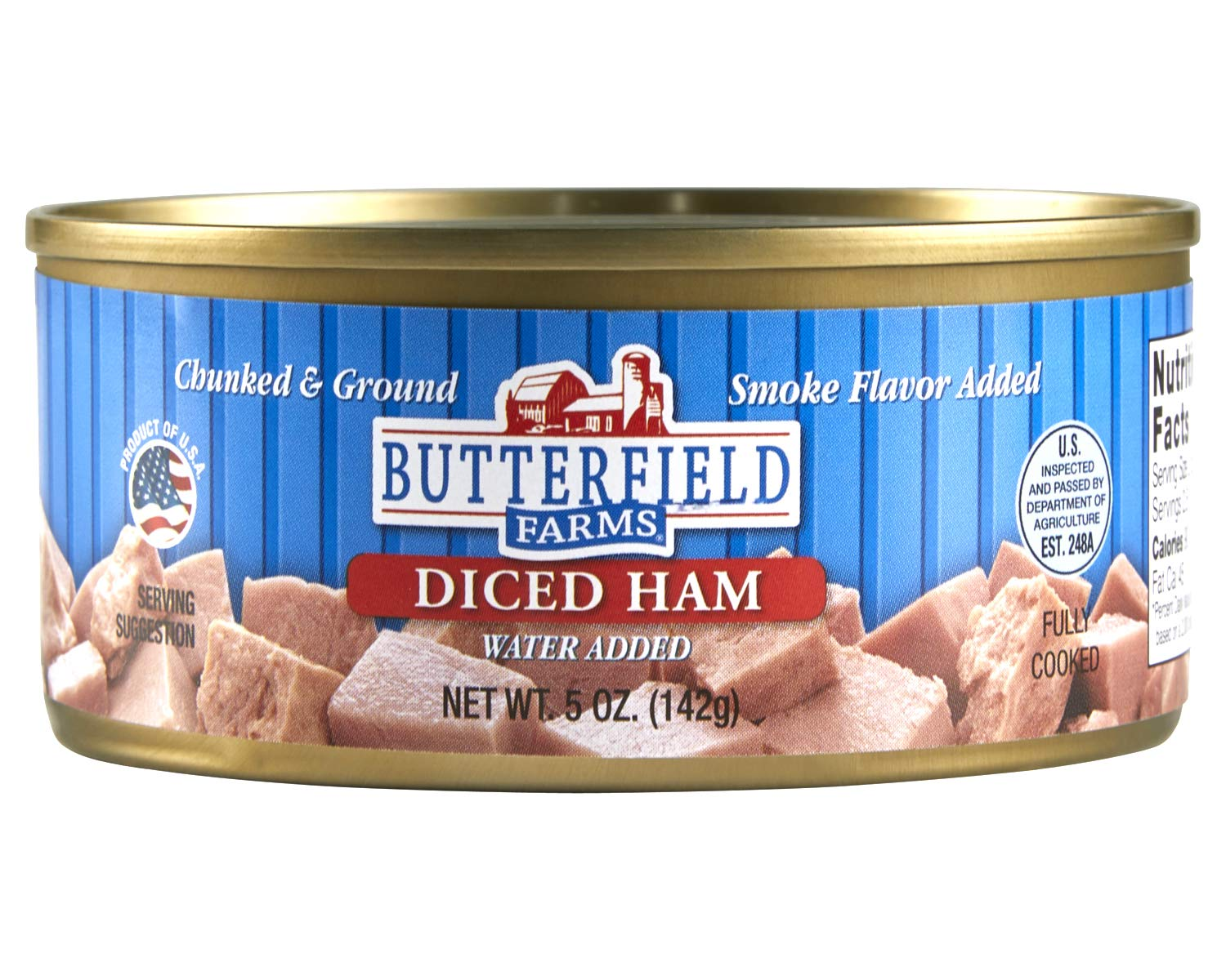 Butterfield Farms Diced Ham, 5 oz. Cans (Pack of 12)