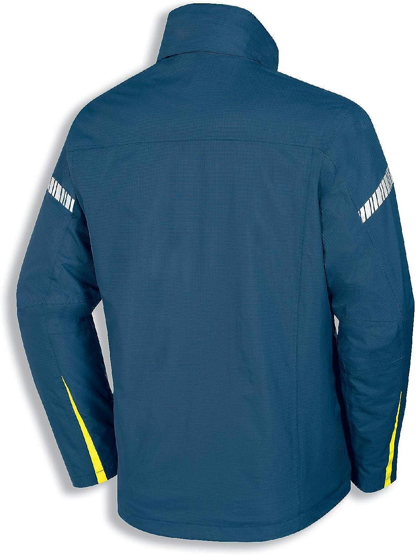 Atmungsaktiv Uvex Metal 3-in-1 Herren-Arbeitsjacke Wind- /& Wasserdicht Blau-Gelbe M/änner-Wetterjacke
