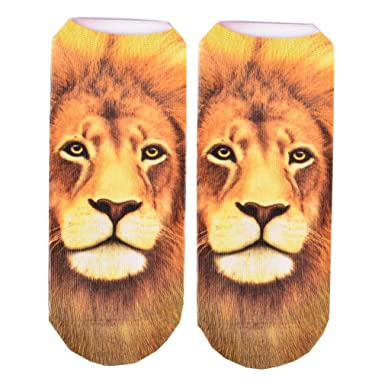 New 3D Printed Animal Unisex Cute Low Cut Ankle Socks Multiple Colors Harajuku