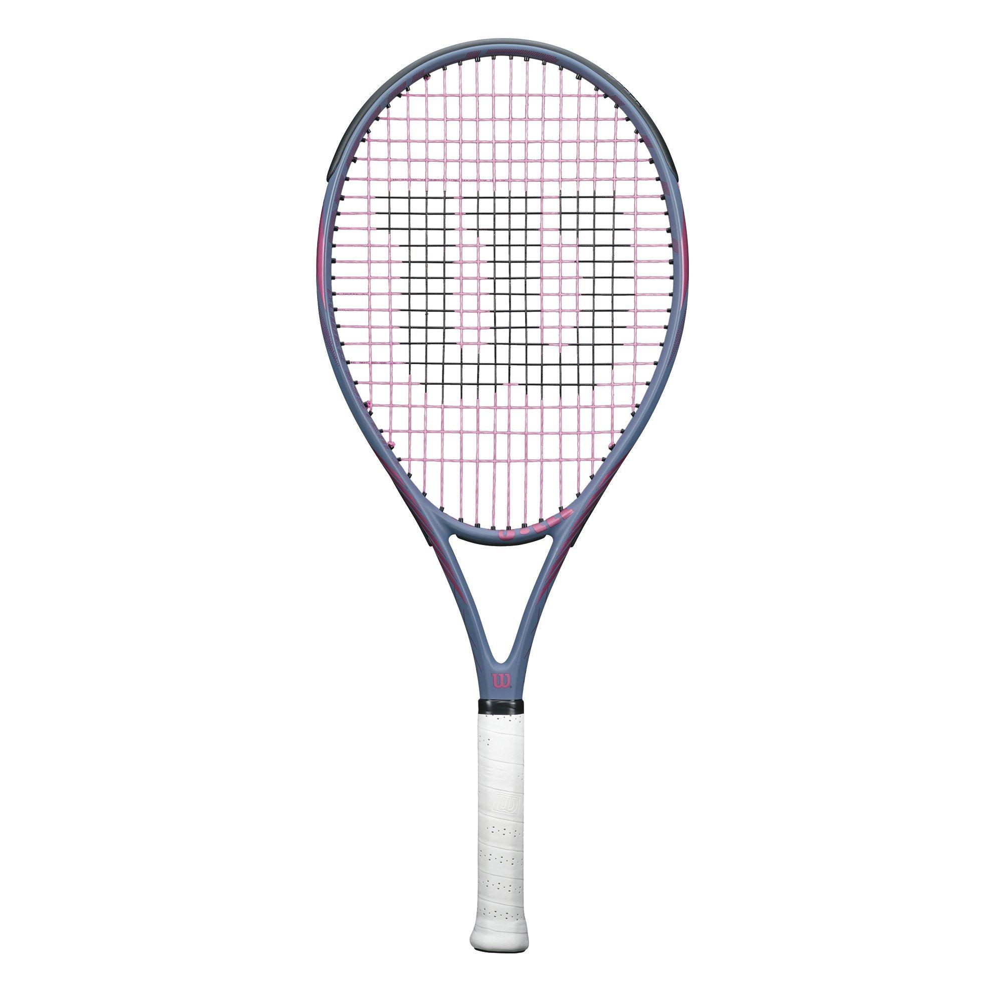 Wilson Hyperion PowerX 1 Tennis Racquet, Grey/Pink, 4 1/4''