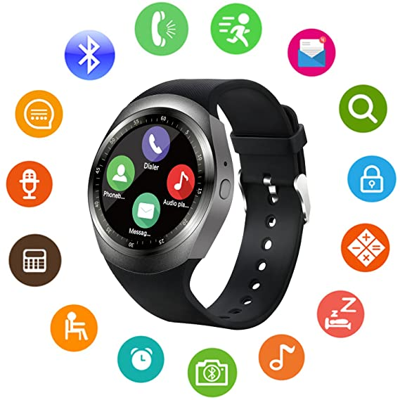 Bluetooth Smart Watch Unlocked Cell Phone Watch with SIM Card Slot Smartwatch for Samsung LG HTC Sony Google Huawei Xiaomi Android Smart Phones ...