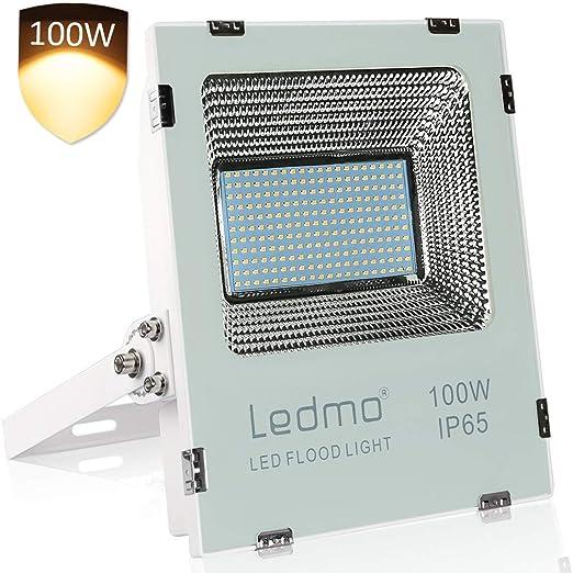 LEDMO focos led exterior 100W 2700K,8800LM foco led SMD2835 Blanco ...