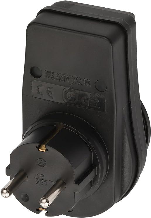 Zwischenste Brennenstuhl Steckdosenadapter Schutzkontaktsteckdose mit Schalter