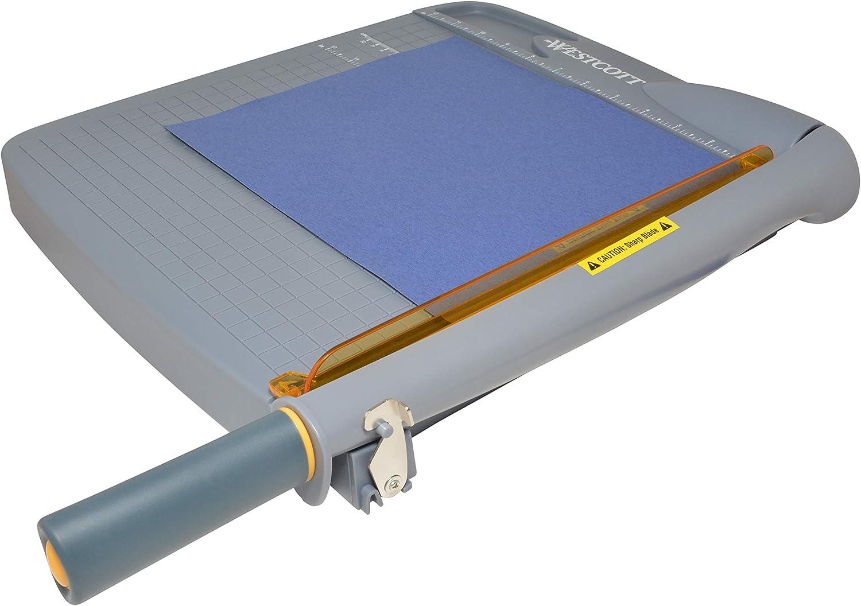 """Westcott Titanium Bonded Plastic Guillotine Paper Trimmer, 12"""""""