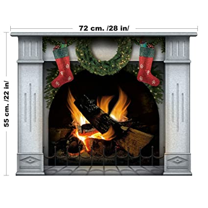 wall sticker christmas decoration fireplace christmas stockings decals christmas decor - Fireplace Christmas Decorations Amazon