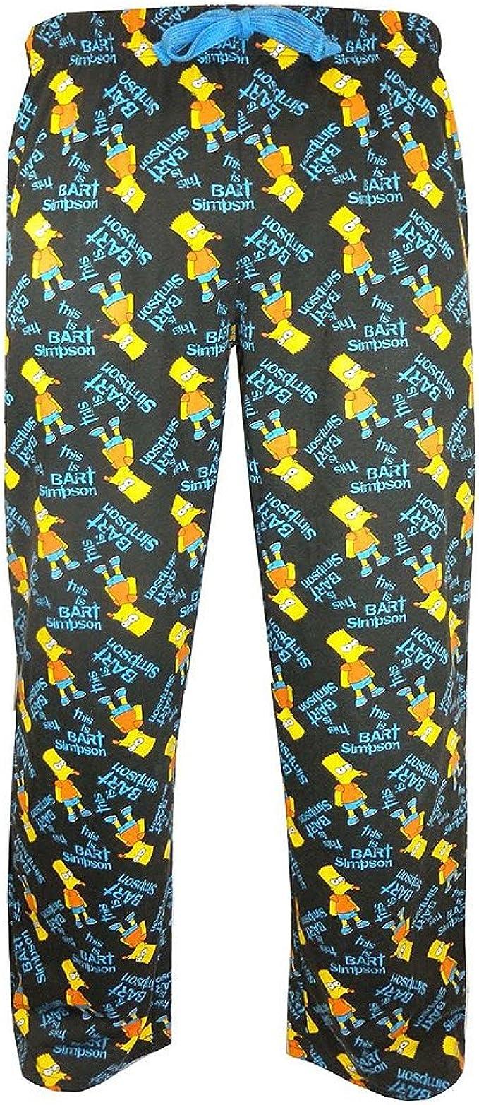 Producto Oficial De Bart Simpson Pantalones De Spray De Pintura Profesional Lounge Unisex De Pijama Pantalones De Running Para Amazon Es Ropa Y Accesorios