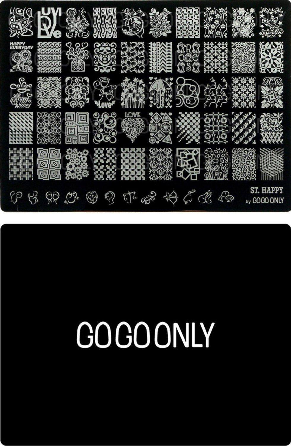 Amazon gogoonly nail art stamp plate collection st holly gogoonly nail art stamp plate collection st happy huge size stamping image plates manicure prinsesfo Image collections