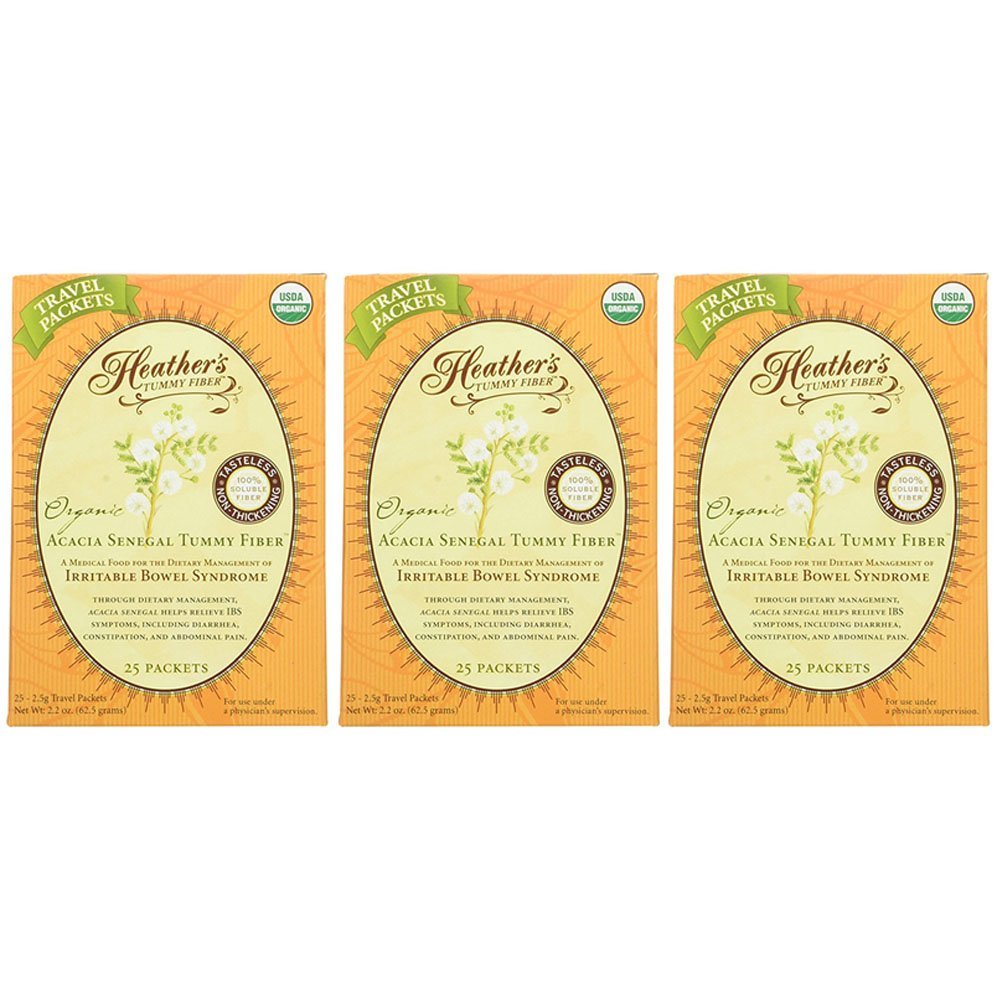 Heather's Tummy Fiber Organic Acacia Senegal Travel Packets for IBS, 75 Count by Heather's Tummy Care (Image #1)