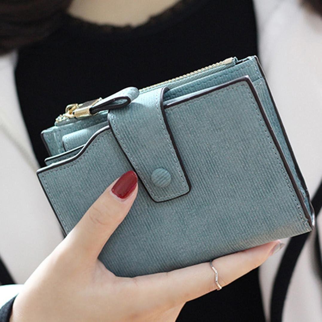 Womail Women Bifold Short Wallet Card Coin Change Holder Clutch Handbags Green