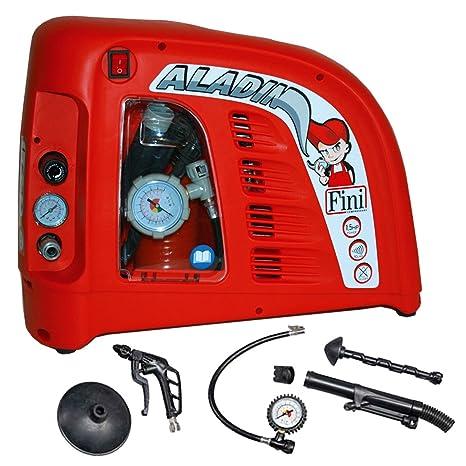 Nutool Aladin Compresor De Aire 8 bar pistón compresor con accesorios de 6 piezas