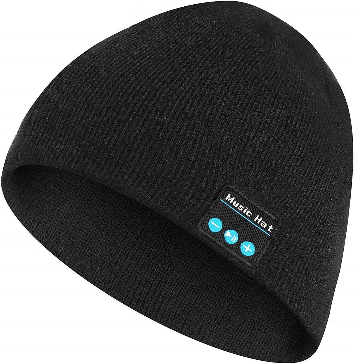 BALANSOHO Bluetooth Beanie Hat Wireless Musical Knit Cap Washable with Stereo Speakers Mic Fit for Outdoor Sports, Awesome Christmas Tech Gifts for Women Men Teen Boys Girls
