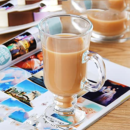 Gbf Taza de café Taza de café de Cristal Transparente Taza casera a Prueba de Calor