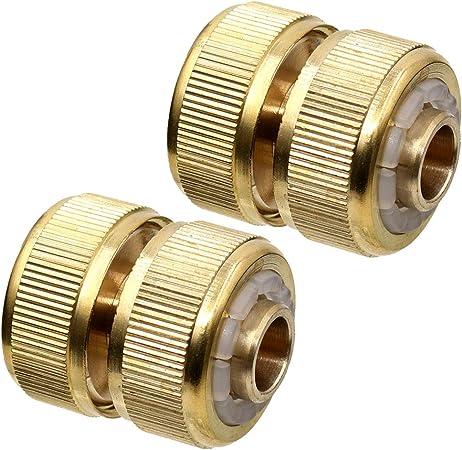 "2Pcs 1//2/"" Garden Hose Extend Pipe Mender Repair Connector Adapter Tool"
