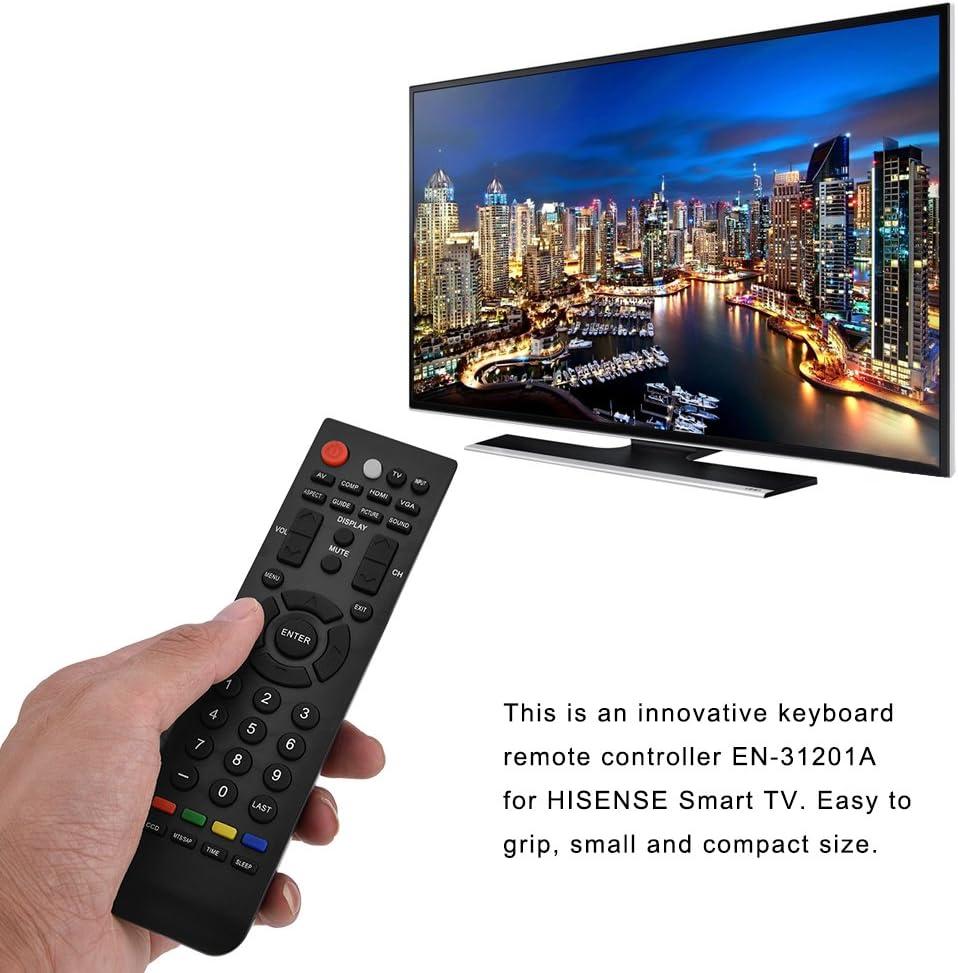 Zerone Mando a Distancia de Repuesto para Hisense EN-31201A, Mando a Distancia Universal EN-31201A para televisor Hisense Smart LED LCD: Amazon.es: Electrónica