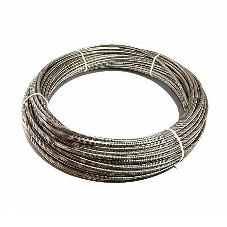 """Amazon.com: LuxLine Cable de 3/16"""" 1 x 19 Strand Cable ..."""