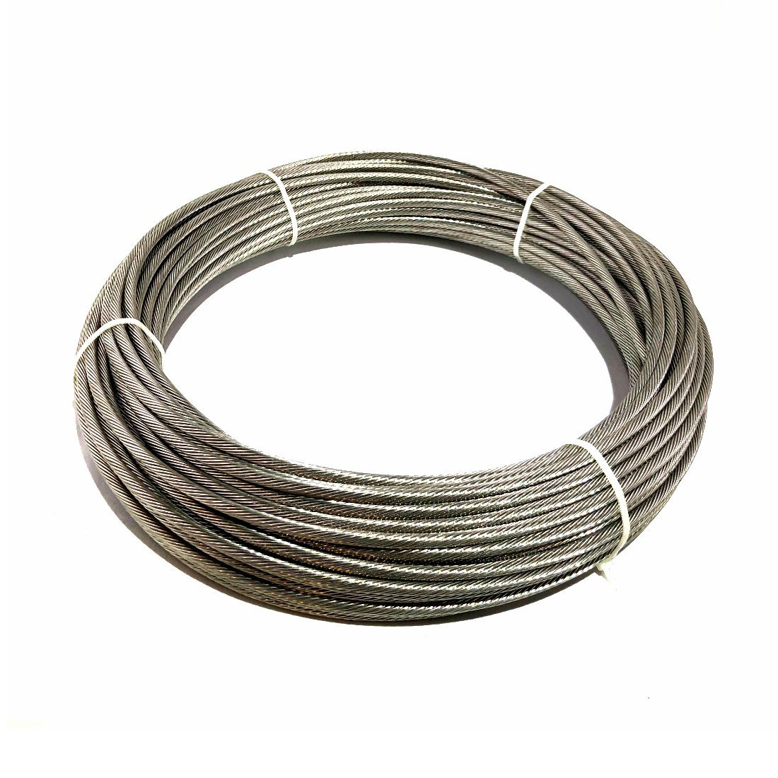 3/16'' Cable 1×19 Strand - T316 Stainless Steel - 100′ Feet for Cable Railings