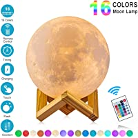 Lámpara de Luna 3D,16 Colores RGB Luz Nocturna