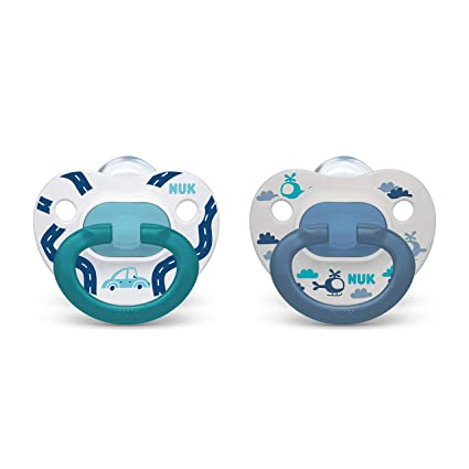 Blue Months Dots Pacifiers Nuk Orthodontic Trendline BPA Free 18 2pack