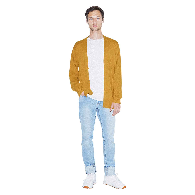 American Apparel Mens Basic Knit Long Sleeve Cardigan