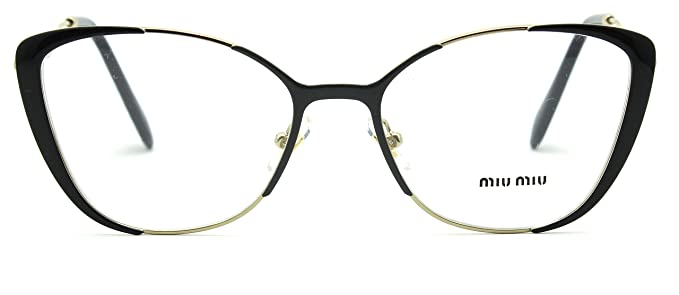ff0159f9d70ed6 Amazon.com  Miu Miu 51QV Butterfly Women Glasses RX - able Gold w ...
