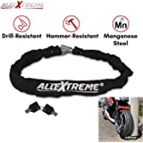 AllExtreme Anti-Theft Heavy Duty Helmet Luggage Secure Chain Lock with 2 Keys for Bike Motorcycle Bicycle