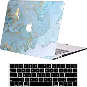 Compatible with MacBook Pro 13 inch Case A1502 A1425 DTangLsm Laptop Plastic Hard Shell Case Sleeve&Keyboard Cover for Older Version 13inch Apple MacBook Pro Retina 2015 2014 2013 2012 Release, Ocean