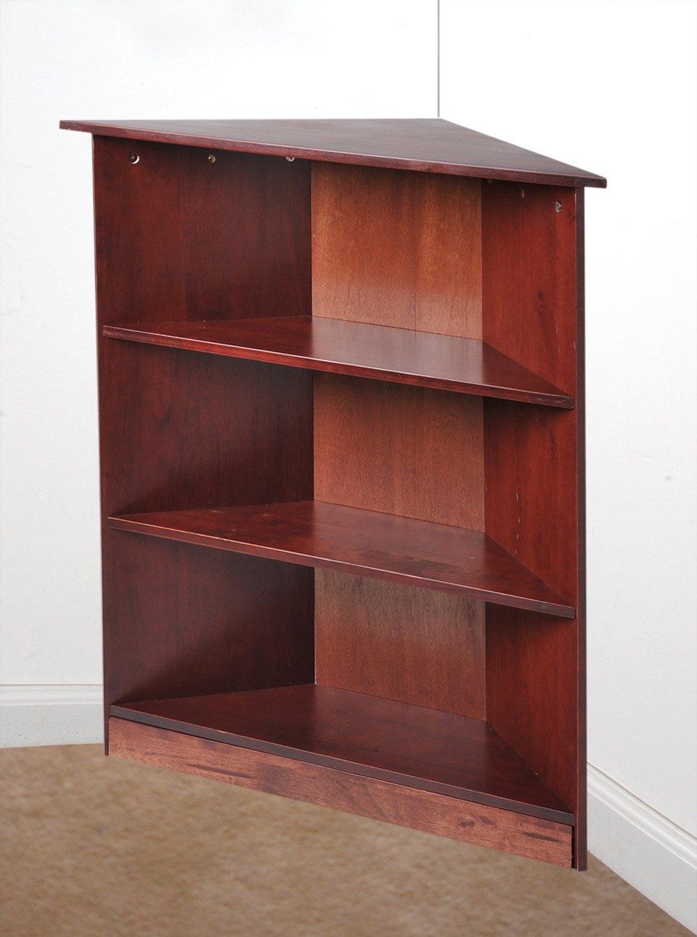 Gift Mark Corner Unit Bookcase, Cherry, 36''