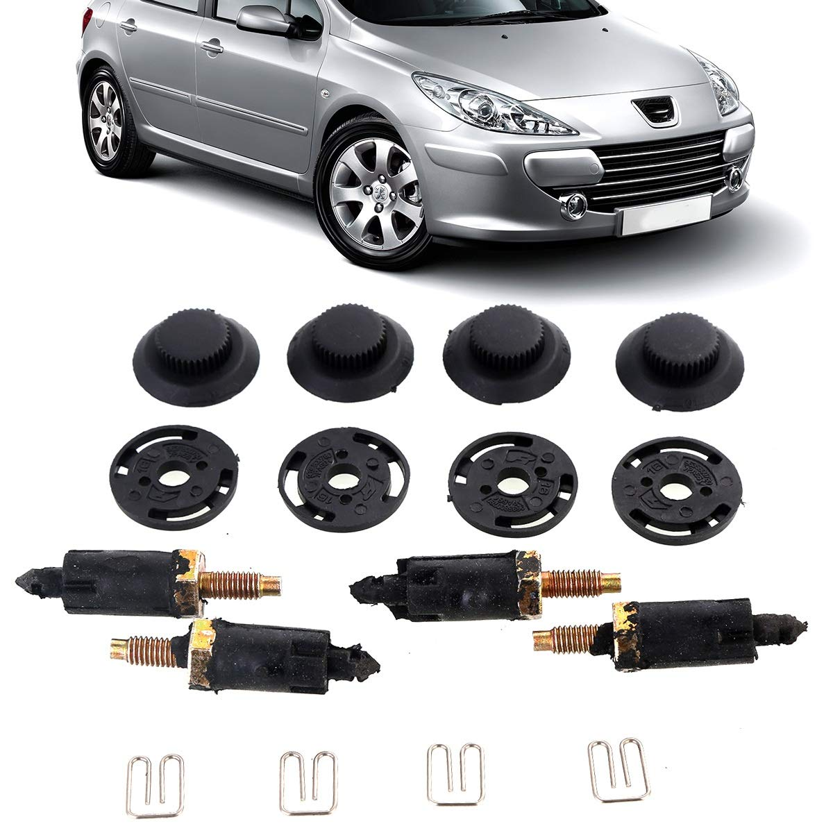 Nosii Juego de Pernos y Clips de la Cubierta del Motor 8pcs / Set para Peugeot 307 406 2.0 HDI Engine: Amazon.es: Hogar