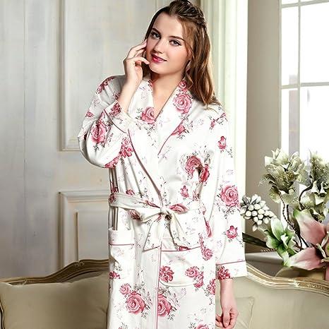 Accappatoi Modelli Primavera E Autunno Cotone Lavorato A Maglia Maniche  Lunghe Femminile Camicia da Notte Plus 02785b6121dc
