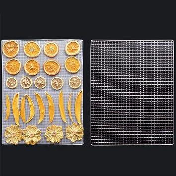 BESTONZON - 9 alfombrillas antiadherentes reutilizables de teflón para secadora de alimentos de alta resistencia a la temperatura especial de silicona para ...
