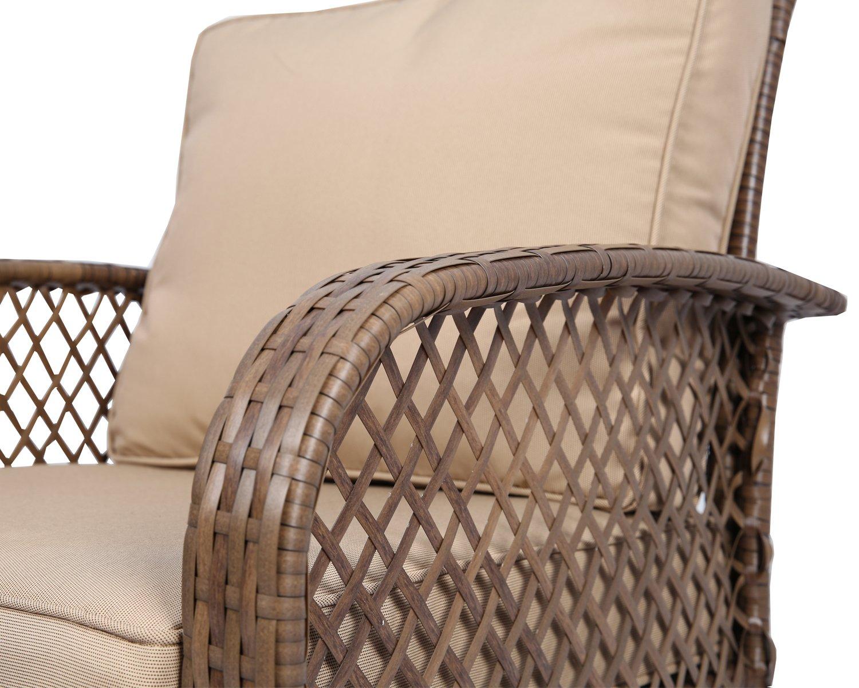 Amazon.com: Ulax furniture 4 Piece Outdoor Patio Deep Seating Group ...