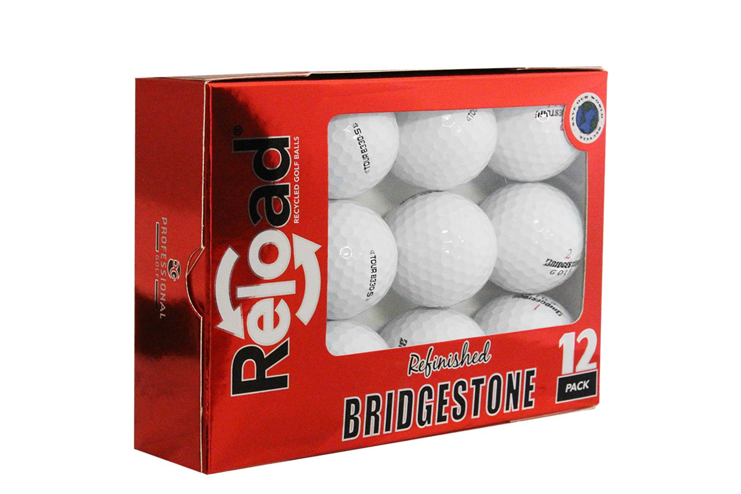Reload Recycled Golf Balls Bridgestone B330-S Refurbished Golf Balls (12 Pack)