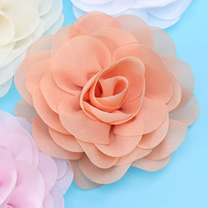 Mixed Color POPETPOP Dog Flower Accessories Charm Collars Headwear 12pcs Solid Flower Decorative for Cat Puppy Pet Dress up Ornament