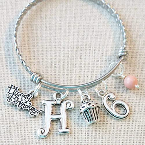 6th BIRTHDAY GIRL PERSONALIZED Birthday Charm Bracelet 6 Year Old Daughter Gift Idea Girls Sixth Girl