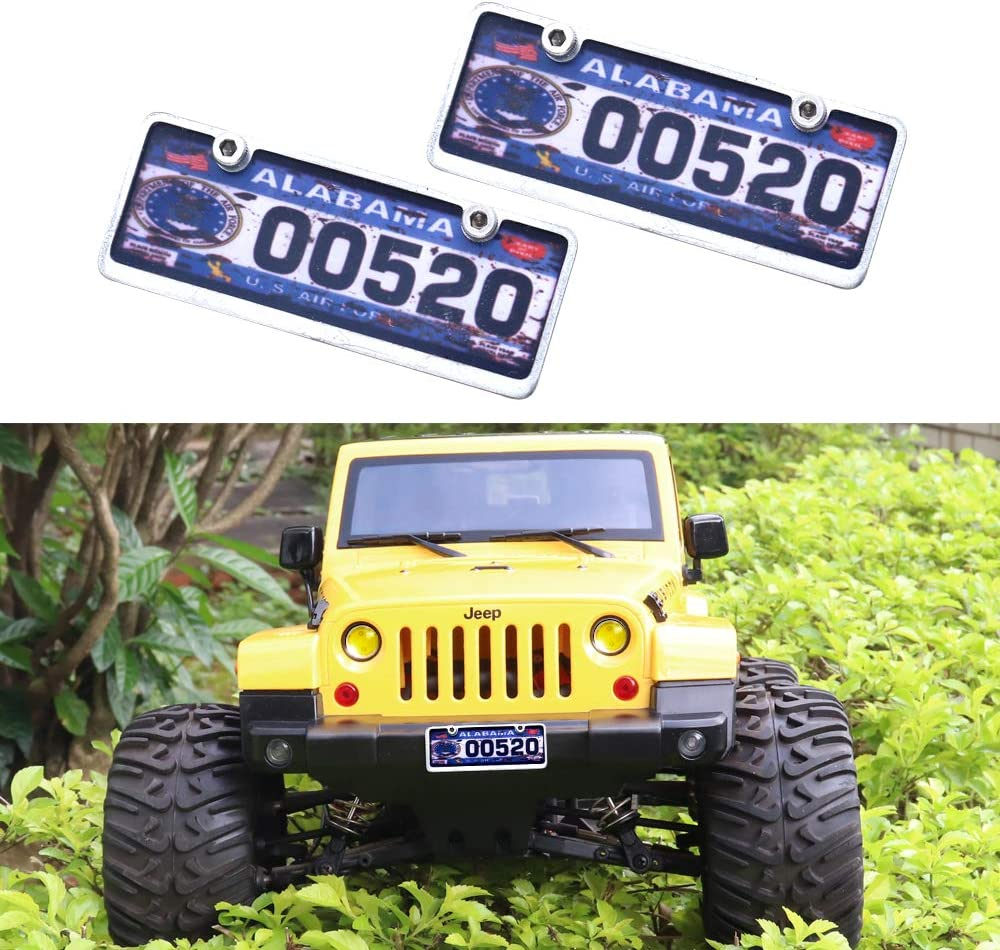 RC 1//10 Scale Custom License Plate 6 Piece Set 2 Matching Plates 8 Characters