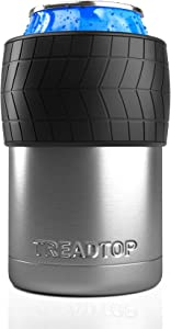 TreadTop Insulated Can and Beer Bottle Holder | Vacuum Insulated and Double Walled | Fits All Standard 12 oz. Cans & Beer Bottles | Perfect Gift for Car, Racing, Off-Roading, and 4x4 Fans