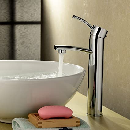 Ouku Deck Mount Single Handle Center Set Bathroom Vessel Sink Faucet ...